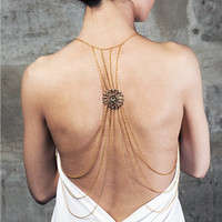 Flowers back hollow body chain