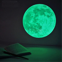 30cm Large Moon Wall Sticker Removable Glow In The Dark Sticker Bedroom Living Room Home Decor