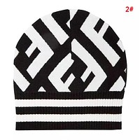 Fendi New fashion letter print couple knit cap hat 2#