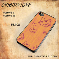 Wood Greedy Hello Kitty For Iphone 4 Case - Gift Present Multiple Choice