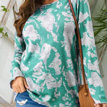 New women's loose casual round neck pullover long sleeve sweater