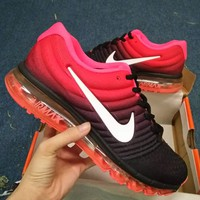 """NIKE"" Trending Fashion Casual Sports Shoes AirMax section black red"