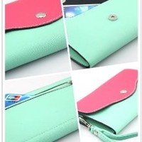 Big Dragonfly Mini Portable Cellphone Bag and Wallet with Shoulder & Hand Strap for iPhone 5 iPhone 4 4s Samsung Galaxy Note 2 S4 S3 HTC Nokia and Other Mobile Phone Mint Colors Vary
