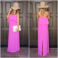 Spent In The Sun Maxi Dress - Lavender