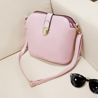 Brand Like Fashion Leather Shoulder Candy Multi Color Women Casual Messenger Crossbody Bucket Bags Chic Handbag  _ 8270