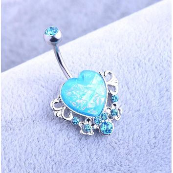 Drop Shipping Body Piercing Jewelry Women Sexy  Retro love Navel Piercing Belly Button Ring navelpiercing chirurgisch staal