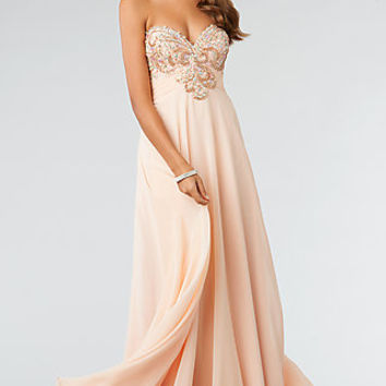 Floor Length Strapless Sweetheart JVN by Jovani Prom Gown
