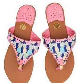 """Simply Southern """"Multi Pineapple"""" Sandals SALE"""