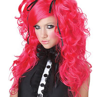 Doll House (Hot Pink) Adult Wig