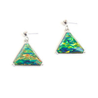 Fashion Stylish Classy Best Gift for Lovers Birthday Anniversary Valentines Christmas  Triangle Colourful Earrings  _ 8555