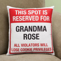 Personalized Grandparents This Spot Is Reserved Pillow
