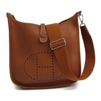 Hermes Evelyne III PM Women's Taurillon Clemence Leather Shoulder Bag B BF314504