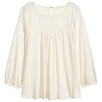 H&M Blouse with Lace $24.99