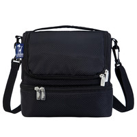 Rip-Stop Black Double Decker Lunch Bag - 52523