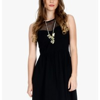 Black Mesh With Me Sleeveless Mesh Top Dress | $11.50 | Cheap Trendy Club and Party Dresses Chic Dis