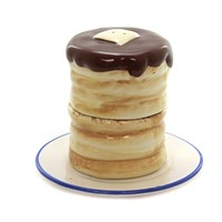 Tabletop Pancake Salt And Pepper Shaker Stacked Hotcakes Syrup Butter - ER59795