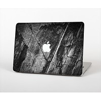 """The Cracked Black Planks of Wood Skin Set for the Apple MacBook Pro 15"""""""