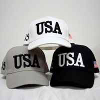 New Style  USA Hat Make America Great Again Hats Women Caps Brand  Flag Caps  USA Baseball Cap  Men Outdoor Sports USA Baseball