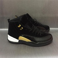Air Jordan 12 Retro Velvet Black Sport Shoes 36 47
