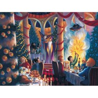 New York Puzzle Company Harry Potter Christmas at Hogwarts Jigsaw Puzzle - Puzzle Haven