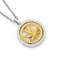 New Arrival Stylish Shiny Gift Jewelry Alloy Leaf Necklace [10768845315]