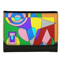Retro Colorful Abstract Women's Wallet
