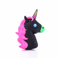 Kawaii Black Unicorn Emoji Portable Powerbank Charger for iPhone & Android Phones