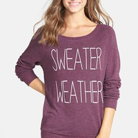 Junior Women's Project Social T 'Sweater Weather' French Terry Sweatshirt