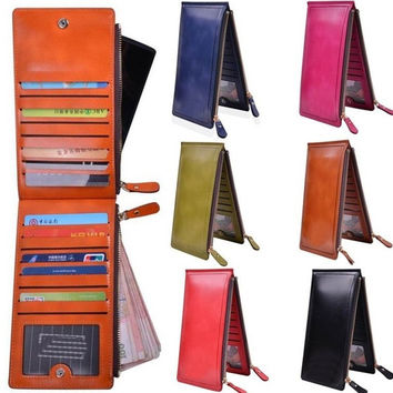 6Colors PU Leather Man Women Wallets Candy Color Card & ID Holders man Women Clutch Bifold Purse Wallet Ladies' Purses For Iphone 4/4s/5/6 = 1958649412