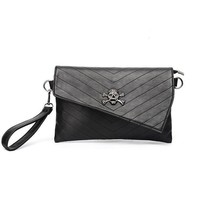 Punk Skull Bags For Women Casual PU Leather Clutch Small Shoulder Bag