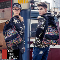 """""""Vans""""Fashion Personality printing large capacity backpack bag leisure travel boom Print avengers(7 style)"""