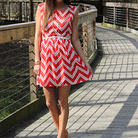 Stomp And Holler Dress, red