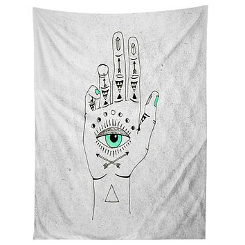 Wesley Bird Eye See Hamsa Tapestry