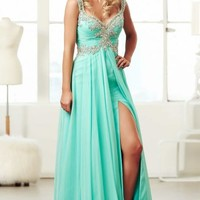 Beaded Chiffon Gown by Mac Duggal Prom