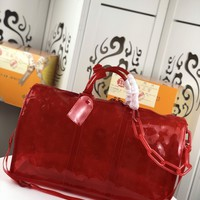 Kuyou Gb22991 Louis Vuitton Lv M53271 Red Monogram Pvc Travel All Collections Keepall Bandouliere 50 50x 29x 23cm
