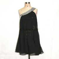 unique short chiffon prom dresses with rhinestones cheap custom colors homecoming dress on sale discount party gowns for girls