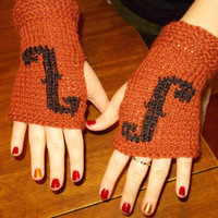Hand Knit Violin Fingerless Gloves for Violin, Viola, Cello, Bass Players, Fall Fashion Orchestra Mitts, Back to School Gifts, Fall Trends