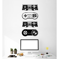 Vinyl Wall Decal Gamer Video Gadgets Joysticks Playroom Stickers Mural (g1604)