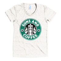 Guns and Coffee Woman's T-Shirt
