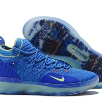 Mens Kevin Durant KD 11 Ice Blue Basketball Shoes