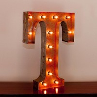 """24"""" Letter T Lighted Vintage Marquee Letters with Screw-on Sockets"""