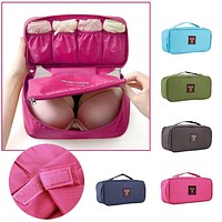 Waterproof Women Girl Portable Travel Bra Underwear Lingerie Organizer Bag Cosmetic Toiletry Wash Storage case Worldwide sale