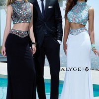 Alyce Paris 6372 Two Piece Black Long Prom Dress