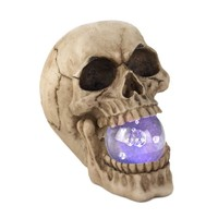 Skull Figurine With LED Light Up Ball