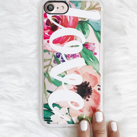 Beautiful iPhone 7 & 7 Plus Case (Love Watercolor Floral Pattern) by Casetify