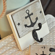 Black Rustic Nautical Anchor Single Wall Hook