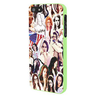 Lana Del Rey Photo Collage Cover iPhone 5 Case Framed Green