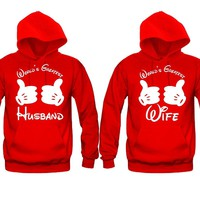 World's Greatest Husband - World's Greatest Wife Unisex Couple Matching Hoodies