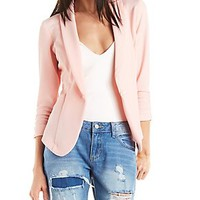 Shawl Lapel Textured Blazer