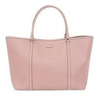 Gucci Women's Pink GG Microguccissima Leather Joy Shopping Tote